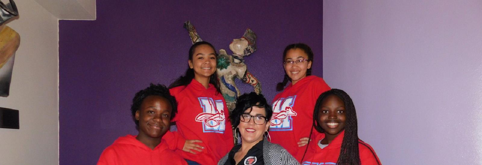Students participate in the African American Student Services Brain Bowl each February.